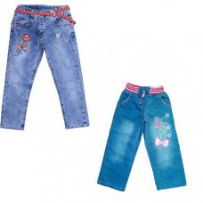 Джинсы с вышивкой для девочки от 4 до 6 лет в ассортименте