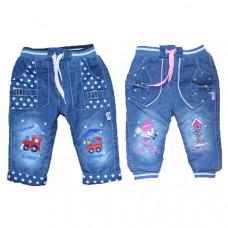 Джинсы с вышивкой для девочки от 1 до 4 лет в ассортименте