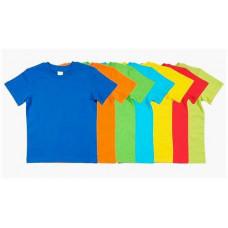 Детская футболка цветная 5-8 лет, в ассортименте