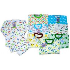Пижама для мальчиков, цветная с начесом 28-34(3-7 лет)