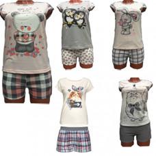 """Комплект женский """"Зверюшки"""" футболка +шорты """" в ассортименте"""
