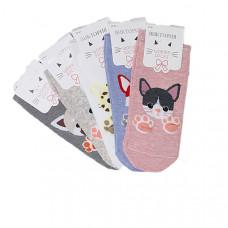 """Носки женские """"Кошечки с лапками"""" цвета в ассортименте"""