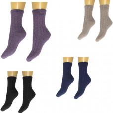 Носки узорные, утепленные. Цвета в ассортименте