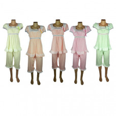 """Женская пижама """"Горох"""" цвета в ассортименте"""