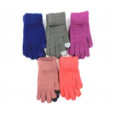 Перчатки женские touch-screen с рисунком