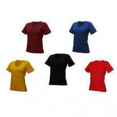 Женская футболка однотонная, цвета в ассортименте