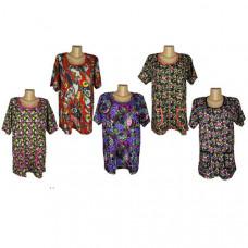 Женская туника с карманами, большемерка цвета в ассортименте