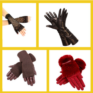Женские варежки и перчатки оптом (9)