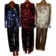 """Домашний костюм """"Иероглиф"""" с брюками, мужской (шелк)"""