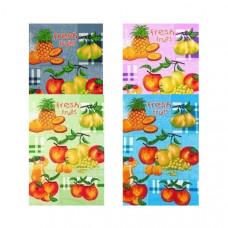 """Полотенце вафельное """" Fruits Fresh -Фрукты"""" цвета в ассортименте 50x60"""