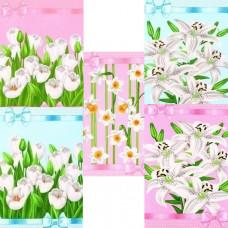 """Полотенце вафельное """"Цветы"""" цвета в ассортименте 50x60"""