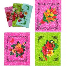 """Полотенце вафельное """"Цветы"""" цвета в ассортименте 40x30"""
