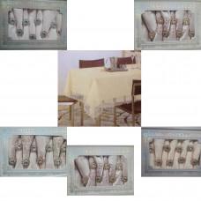 Набор скатерть 150х230,8 салфеток. Крупный рисунок 17083