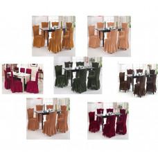 Чехлы на стулья 6 шт в наборе,  цвета в ассортиенте