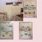 Набор скатерть  150х220+ 8 салфеток, полиэстер 6188, мелкий рисунок