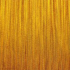 Штора кисея, однотонные нити 3м*2.90м Цвет Золото