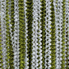Штора жаккардс спираль радуга 1м*2м. Цвет-белый-оливковый/ салатовый/серебряный люрекс