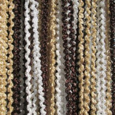 Штора жаккардс спираль радуга 1м*2м. Цвет-темн.коричневый-белый-бежевый/серебряный люрекс