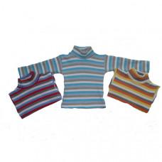 Детская водолазка кашемировая, полоса 5-8 года в ассортименте