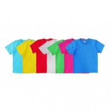 Детская футболка цветная 1-4 года, в ассортименте