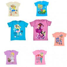 Детская футболка с рисунком от 5-9 лет, в ассортименте