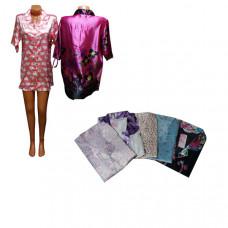 Халат-рубашка, женский (шелк)