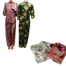 Домашний костюм с брюками, женский (шелк)
