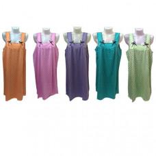 """Женская ночная сорочка """"Горошек и  цветы""""  цвета в ассортименте"""