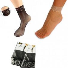 Носочки женские сеточка, с ажурной резинкой