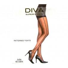 Женские колготки Diva с рисунком Black 40 Den 333
