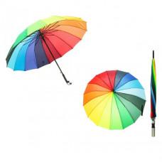 Зонт-трость полуавтоматический «Радуга», 16 спиц, R = 76см