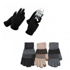 """Мужские перчатки """"Ангора-сенсор"""" для удобного управления сенсорным экраном, не снимая перчаток"""