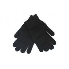 Мужские перчатки одинарные, черные