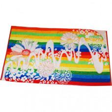 """Полотенце махровое """"Ручеек в цветах"""" цвета миксом. 90x50x2"""