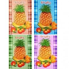 """Полотенце вафельное """" Fruits -Фрукты"""" цвета в ассортименте 50x60"""