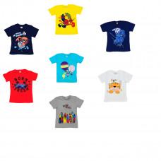 Детская футболка с рисунком 2-6 лет,  в ассортименте